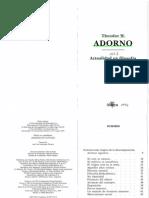Sem-Adorno 1931 Actualidad de La Filosofia