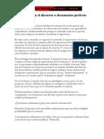 Manual Para El Discurso o Documento Perfecto