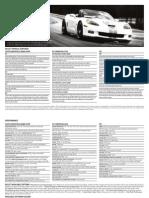 2013 Corvette SpecSheet