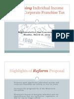 HF1782 - Rep. Lenczewski Tax Reform Proposal