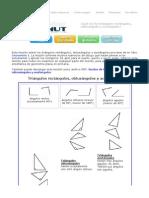 Triángulos rectángulos, obtusángulos y acutángulos - una lección completa con ejercicios
