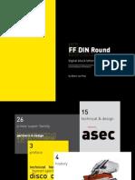 FF DIN Round Digital Block Letters