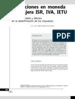 Operaciones en moneda extranjera ISR, IVA e IETU. Registro contable y efectos en la determinación de los impuestos
