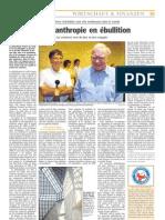 Luxemburger Wort - 06/04/2008 - La philanthropie en ébullition