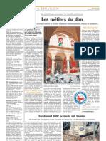 Luxemburger Wort - 09/04/2008 - Les métiers du don