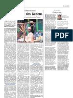 Luxemburger Wort - 23/04/2008 - Die neue Welt des Gebens