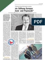 """Luxemburger Wort - 23/04/2008 - """"Erste Stiftung Europas für Rock- und Popmusik"""""""
