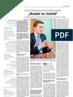 "Luxemburger Wort - 23/04/2008 - ""Wandel im Umfeld"""