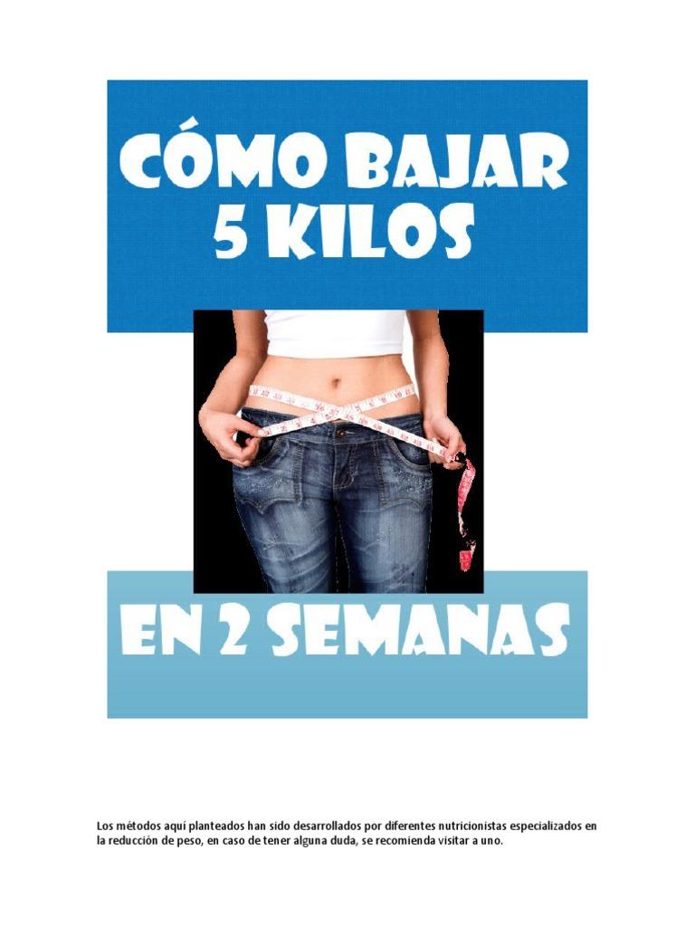 Dieta disociada para adelgazar 5 kilos en una semana