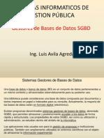 SIGP - Gestores de Bases de Datos SGBD