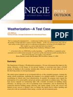 Weatherization—A Test Case