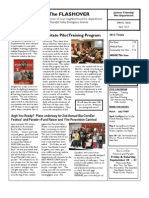 2013-04 JTFD Newsletter - Flashover