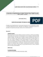 ESPECIFICACIONES TECNICAS - GENERALES