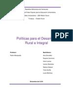 Trabajo Politicas Para El Desarrollo Rural e Integral