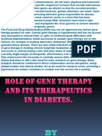 ROLE OF GENE THERAPY AND ITS THERAPEUTICS IN DIABETES.