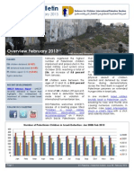 Defence for Children International-Palestine's monthly bulletin on detention -  Issue 38 - February 2013
