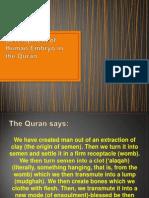 Development of Human Embryo in the Quran