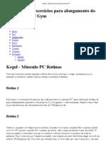 Kegels - Rotinas de exercícios do músculo PC