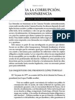 CONTRA LA CORRUPCIÓN, TRANSPARENCIA