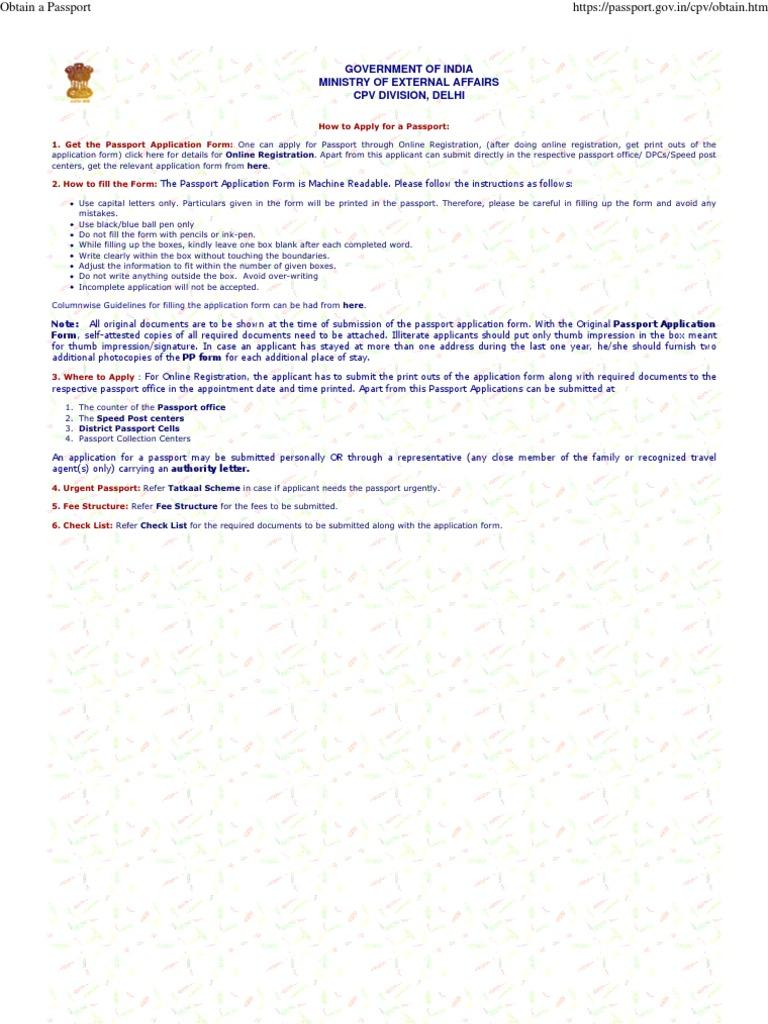 How to obtain a passport passport cheque falaconquin
