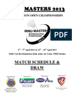 Mmu Masters 2013 Schedule n Draw