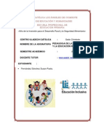 UNIVERSIDAD CATÓLICA LOS ÁNGELES DE CHIMBOTE FACULTAD DE EDUCACIÓN Y HUMANIDADES