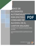 INDICE DE ACCIDENTES AUTOMOVILISTICOS POR EFECTOS DEL CONSUMO DE ALCOHOL EN EL CANTON MILAGRO.docx