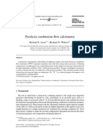Pyrolysis Combustion Flow Calorimetry - Lyon 2004