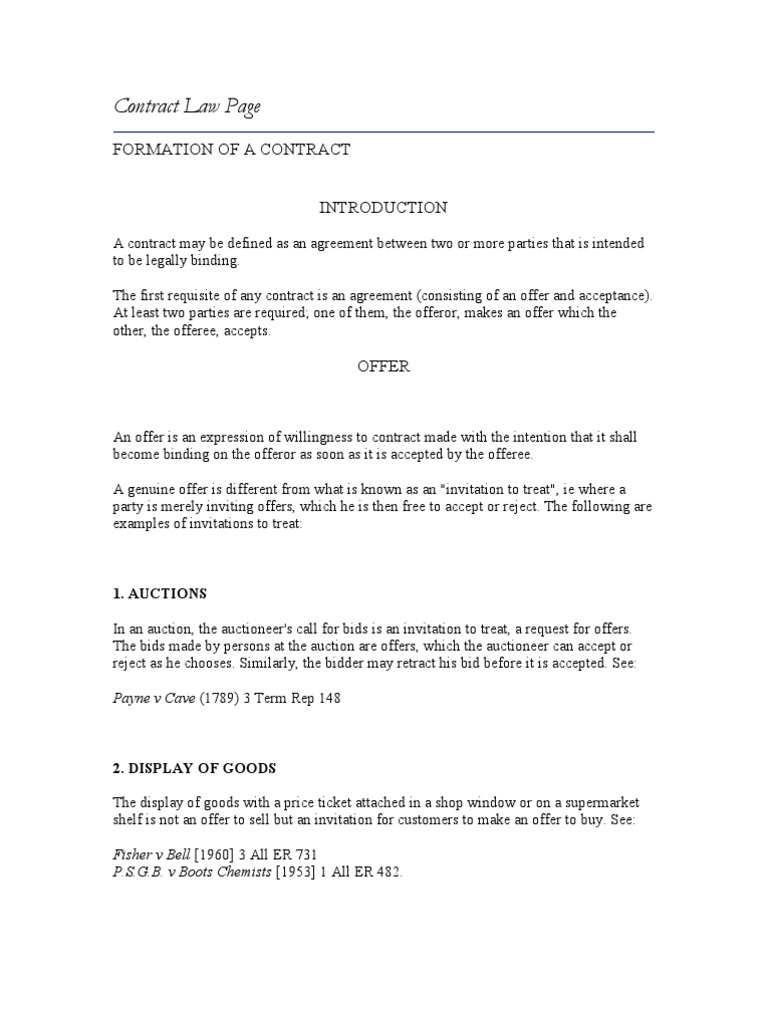 52915842 acca f4 contract law offer and acceptance legal ethics stopboris Images