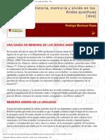 Historia Memoria y Olvido en Los Andes Quechuas 2