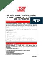 Politicas Manejo Del Proveedor