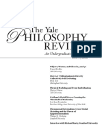 The Yale Philosophy Review N2 2006