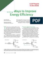 Easy Ways to Improve Energy Efficiency