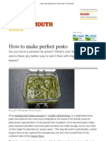 How to Make Perfect Pesto