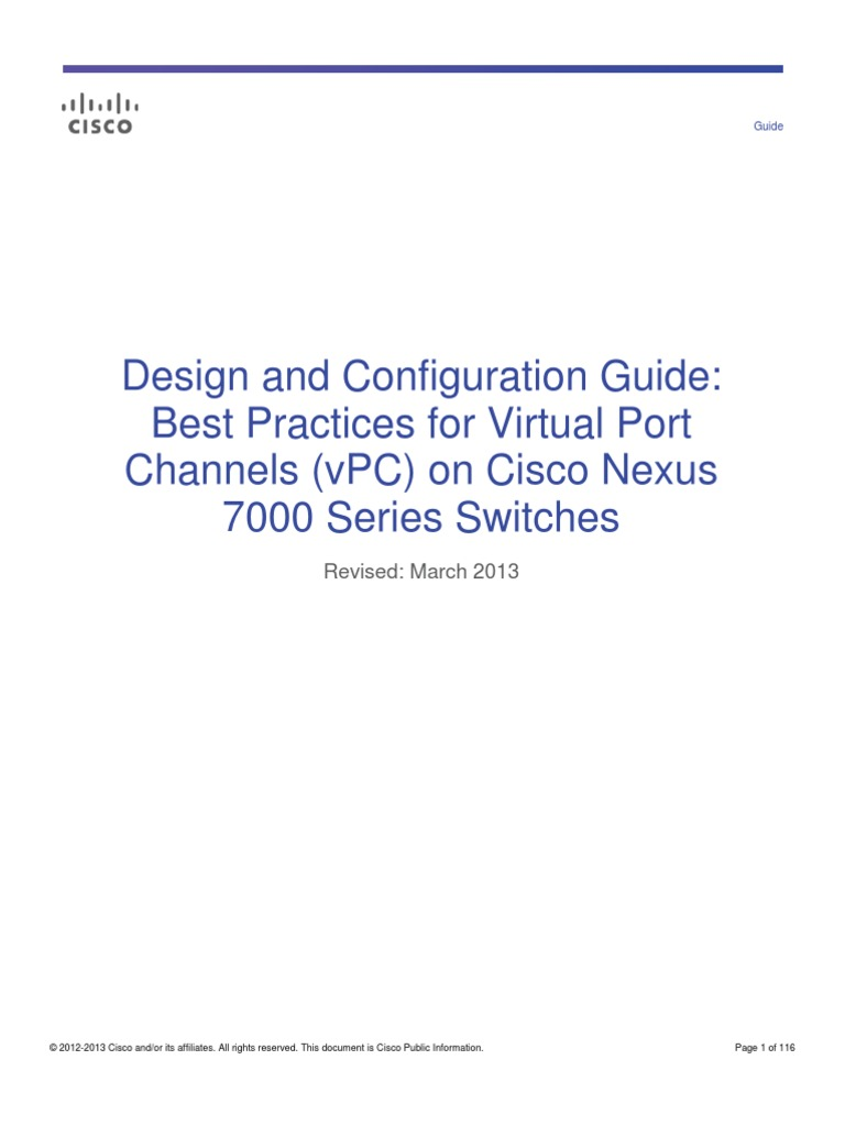 Design and Configuration Guide: Best Practices for Virtual