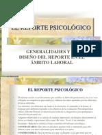 EL REPORTE EN EL AREA LABORAL PRESENTACIÓN