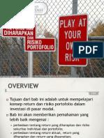 Portofolio & Investasi Bab 4 - Return Yang Diharapkan & Resiko Portofolio