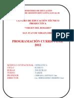 Programacion Cetpro Ministerio de Educacion Ofimatica Virgen Del Rosario