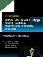 Tema 1 NORMAS QUE RIGEN LAS MÚSICA SAGRADA