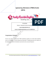 TamilNadu Engineering Admission Guide 2012