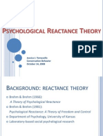 Reactance Theory