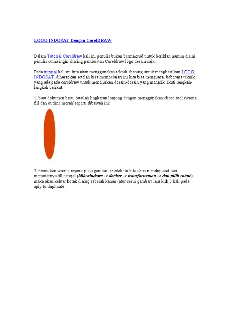 02 Latihan Bikin Logo Indosat Dengan Coreldrawdoc