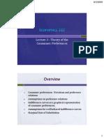 Economics 102 Lecture 3 Preferences Rev
