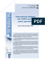 Joanna Dobrowolska-Polak, International solidarity. UN, NATO and EU peace operations