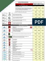 Lista de Precios - Deteccion de Incendio 2012
