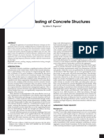 Ut Testing of Concrete Structures