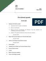 1 66th WHA Provisional Agenda