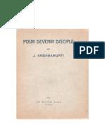 Pour devenir disciple, par J. Krishnamurti