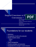 2010 IW Surgical Conscience Surgical Convenience