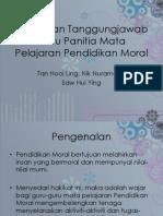Peranan Ketua Panitia Pendidikan Moral